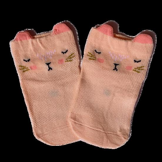 Peach Cat socks
