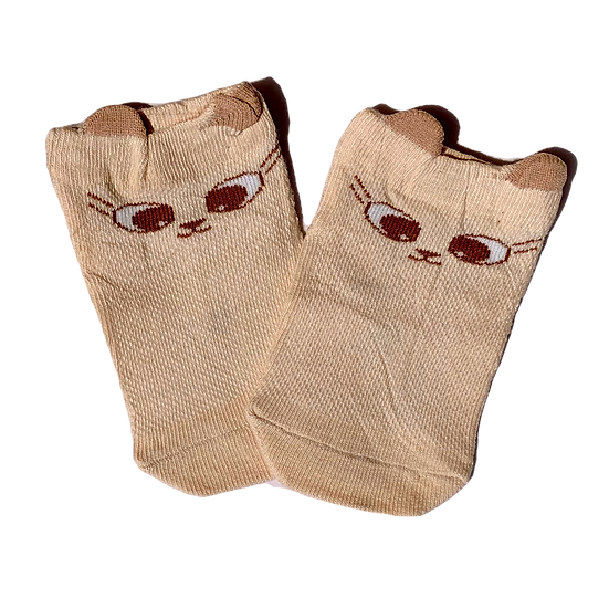 Beige Cat socks