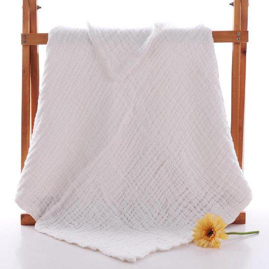 Muslin 6 layer White blanket