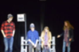 Our Junior Youth Theatre perform the bus stop scene from 'Three'