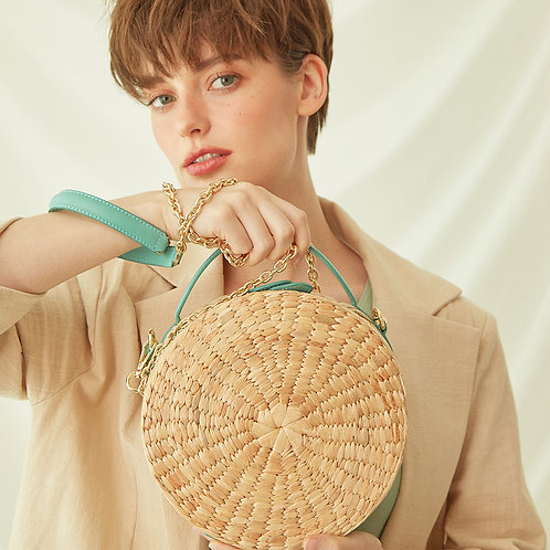Le Biscuit Straw Bag - Mint