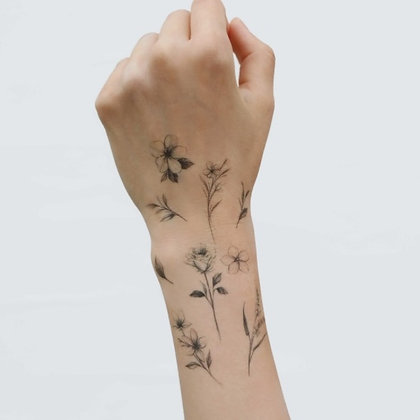 LAZYSTUDIO temporary tattoo sticker_Chaewha (2 designs)