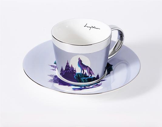 LUYCHO cup & grey wolf