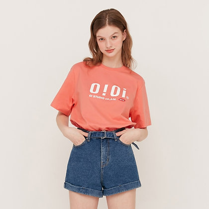 5252 BY OIOI 2020 signature t-shirts coral