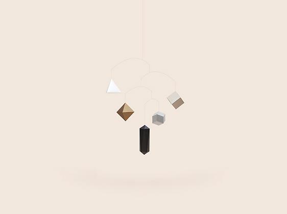 SMALLGOODTHINGS polygon mobile  metallic