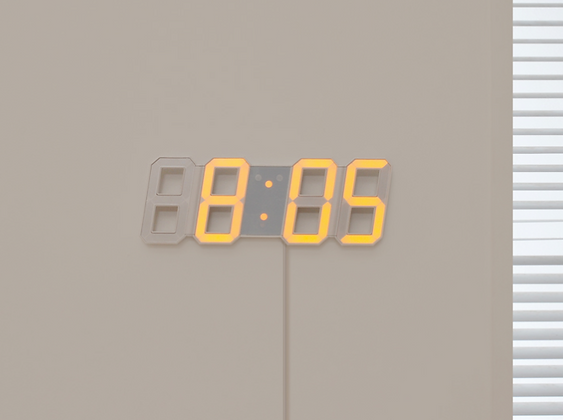MOOAS big LED wall clock dual color (standing & hanging alarm mode)