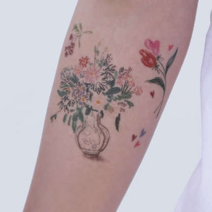 LAZYSTUDIO temporary tattoo sticker_Dam (3 designs)