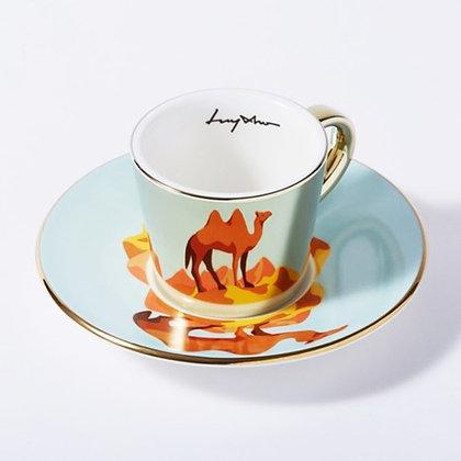 LUYCHO espresso cup & camel gold round cup