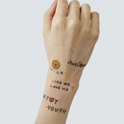LAZYSTUDIO temporary tattoo sticker_Tan (8 design)