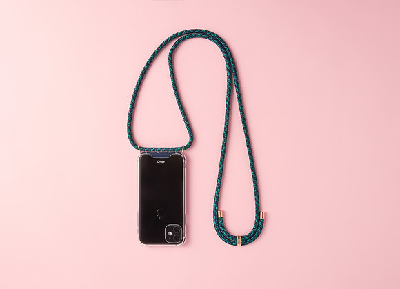 ARNO iphone  case with rope strap_london green