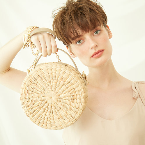 Le Biscuit Straw Bag - Beige