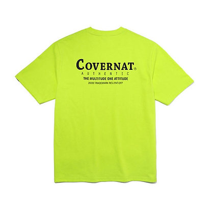 COVERNAT layout logo t-shirt neon