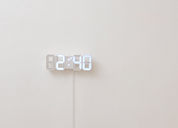 MOOAS  mini LED wall clock (standing & hanging alarm mode)