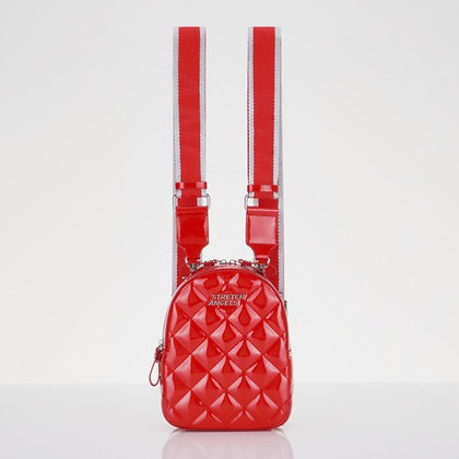 STRETCH ANGELS waffle panini backpack(red)