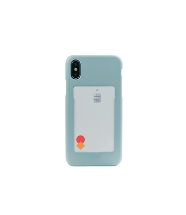FRAME BY classic phone case with slide card holder (Ice blue)