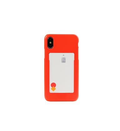 FRAME BY classic phone case with slide card holder (Flash red)