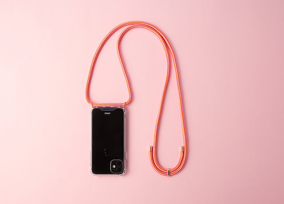 ARNO iphone  case with rope strap_sweet tangerine