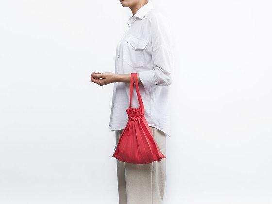 PLEATSMAMA knit pleats mini bubble bag (grapefruit)