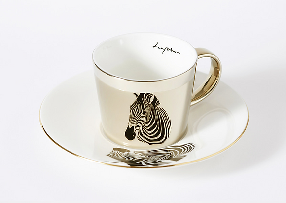LUYCHO Cup & Chapman's Zebra gold round cup