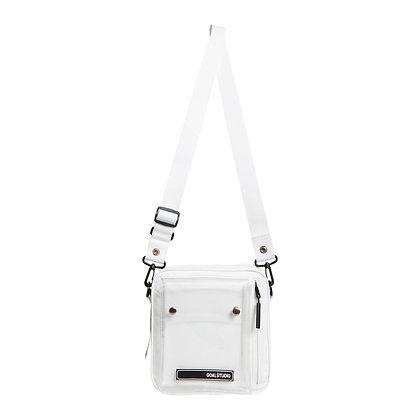 GOALSTUDIO logo wappen small shoulder bag white