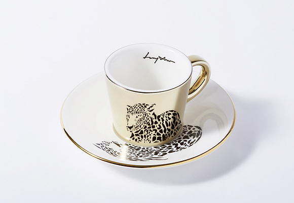 LUYCHO espresso cup & amur leopard