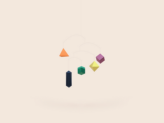 SMALLGOODTHINGS polygon mobile colorful