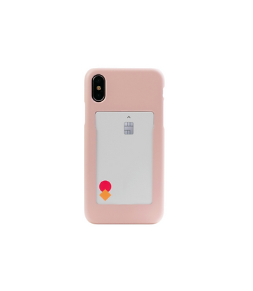 FRAME BY classic phone case with slide card holder (Summer pink)