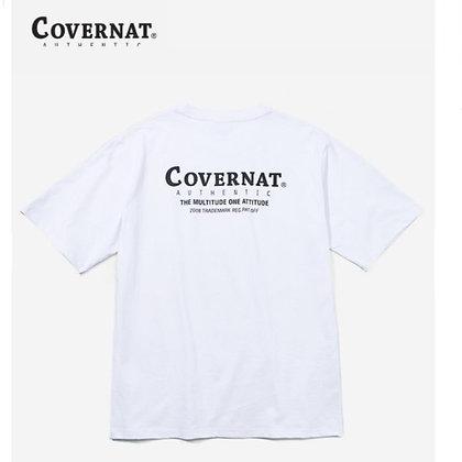 COVERNAT layout logo t-shirt white