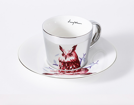 LUYCHO Cup & Eagle Owl silver round cup