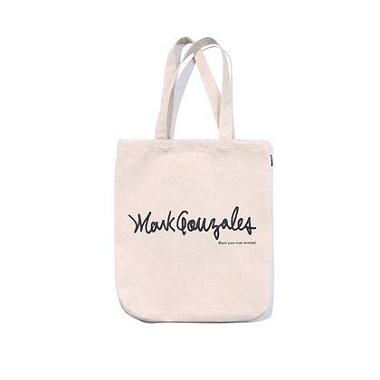 MARK GONZALES logo eco bag ivory