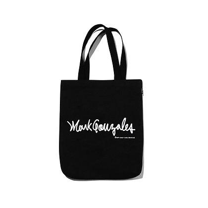 MARK GONZALES logo eco bag black
