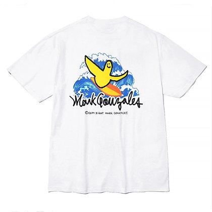 MARK GONZALES surfing angel t-shirts white