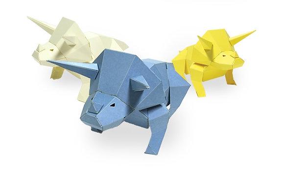 PAPERO BEAN triceratops