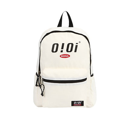 5252 BY OIOI basic logo backpack ivory