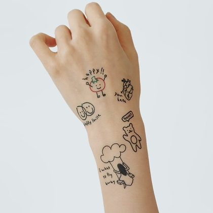 LAZYSTUDIO temporary tattoo sticker_BOM (3 designs)