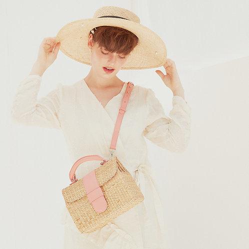 Bon Voyage Straw Bag - Pink