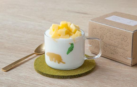 WARMGREY TAIL bird & dog mini cup