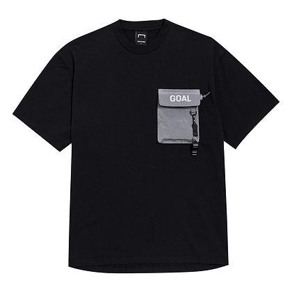 GOALSTUDIO nylon metal pocket short sleeve black