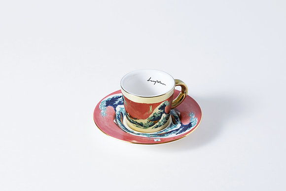 LUYCHO espresso cup & the great wave off kanagawa