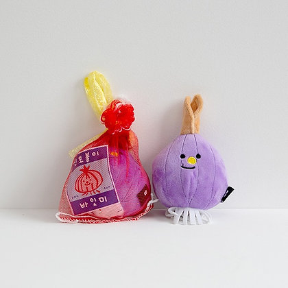 BITE ME pet toy purple onion