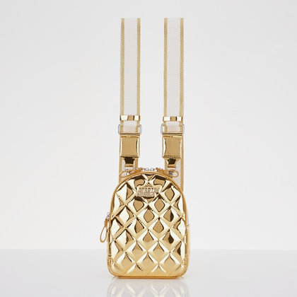 STRETCH ANGELS waffle panini backpack(gold)