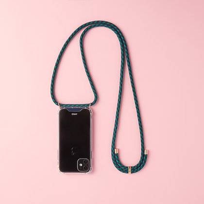 ARNO iphone  case with rope strap london green