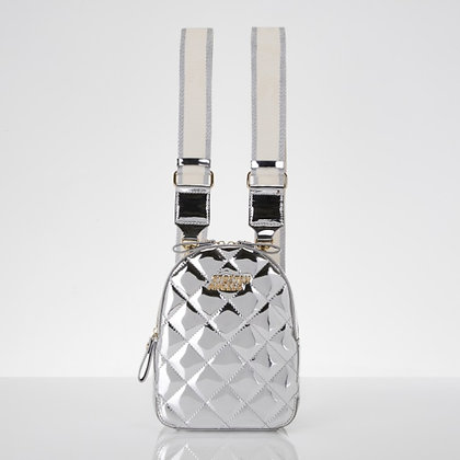 STRETCH ANGELS waffle panini backpack(silver)