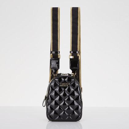 STRETCH ANGELS waffle panini backpack(black)