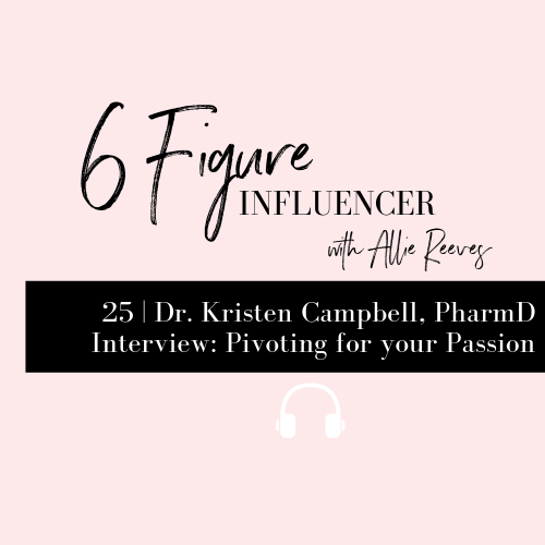 25 | Dr. Kristen Campbell, PharmD Interview: Pivoting for your Passion