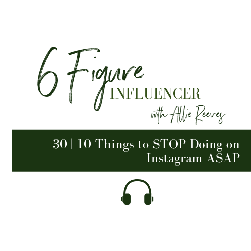 30 | 10 Things to STOP Doing on Instagram ASAP