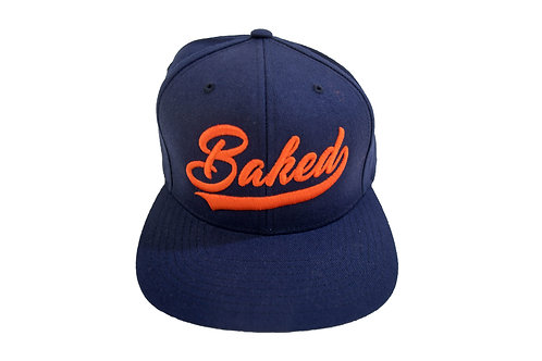 Baked Hat (Navy/Orange)