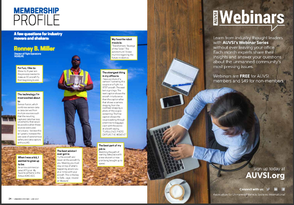 Unmanned Systems Magazine Feature