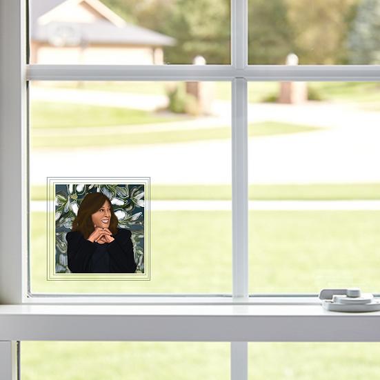 """Kamala Harris Window Decal 3""""x3"""""""