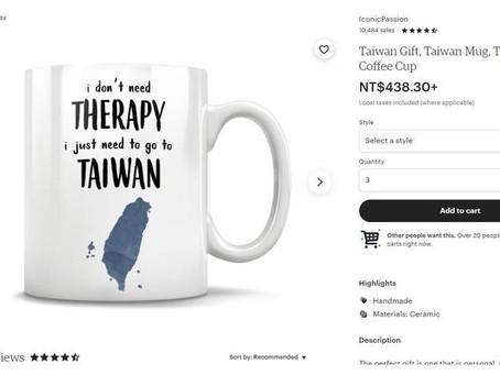 「我不需要心理治療,我只需要去台灣」 美國「哈台」馬克杯賣到缺貨